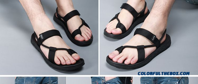 279b7437cef2 ... Outdoor Men Sandals Couple Beach Shoes Rome Simple And Stylish - detail  images ...