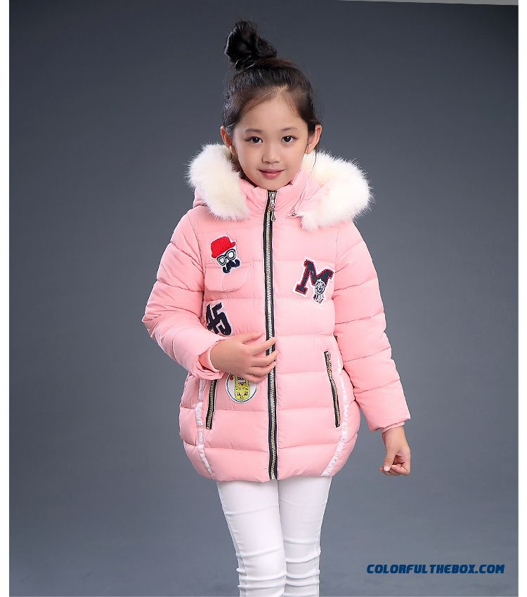 8478fe006 Pretty Stylish Design For Kids Girls With White Fur Collar Warmth Red Black  Coats Free Shipping ...