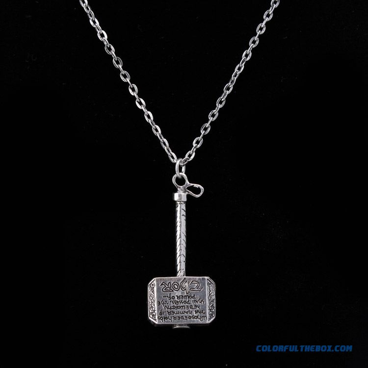 cheap quake toll thor alloy necklace thor hammer key buckle