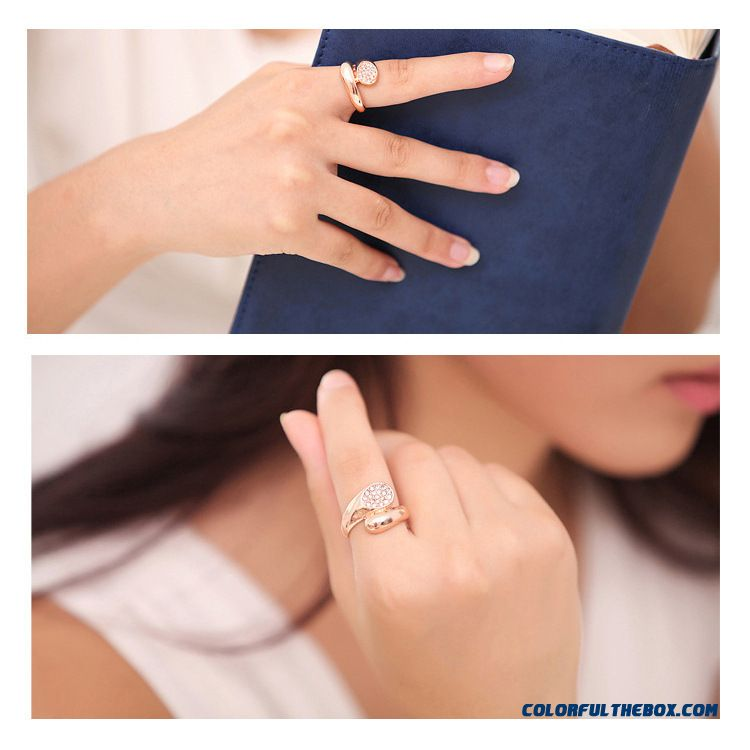 Rose Gold Ring Jewelry Woman Fashion And Creativity Full Drill Rings - detail images