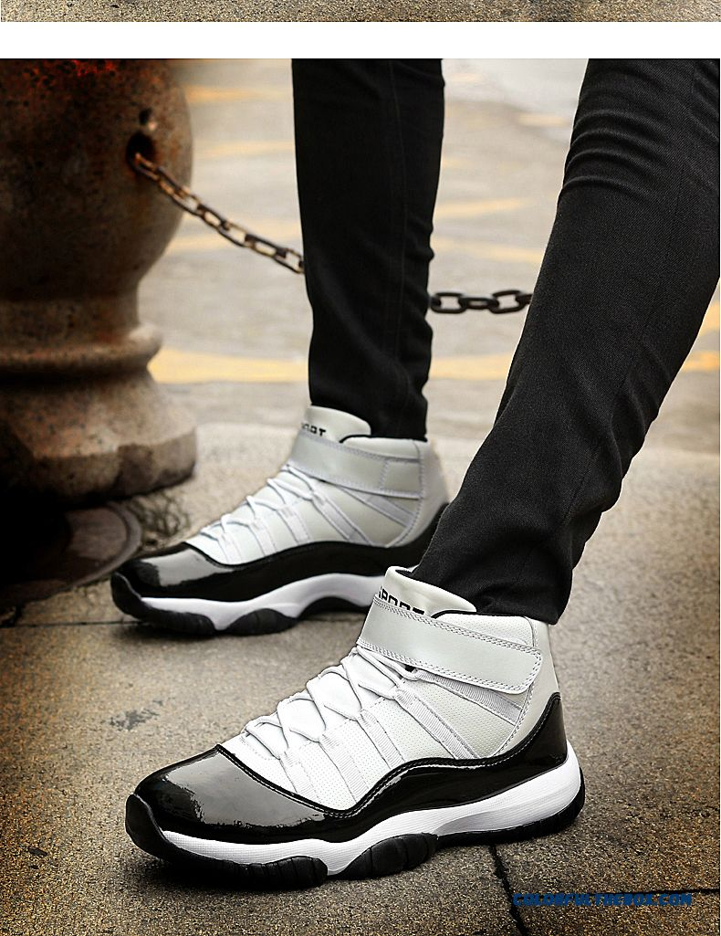 Simple Fashion Thick Bottom Antiskid Couple Shoes Men Basketball Shoes - detail images