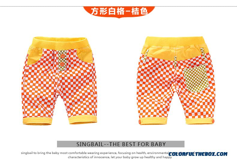 Singbail Summer Baby Pants 1-2 Years Old Boys And Girls Casual Pants Kids Fifth Pants - detail images
