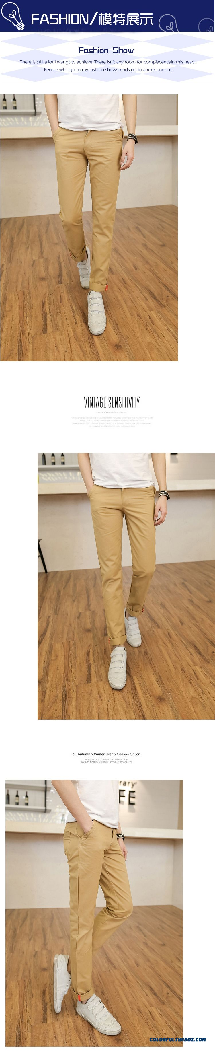Special Clearance Autumn New Cotton Casual Straight Long Slim Men Pants - detail images