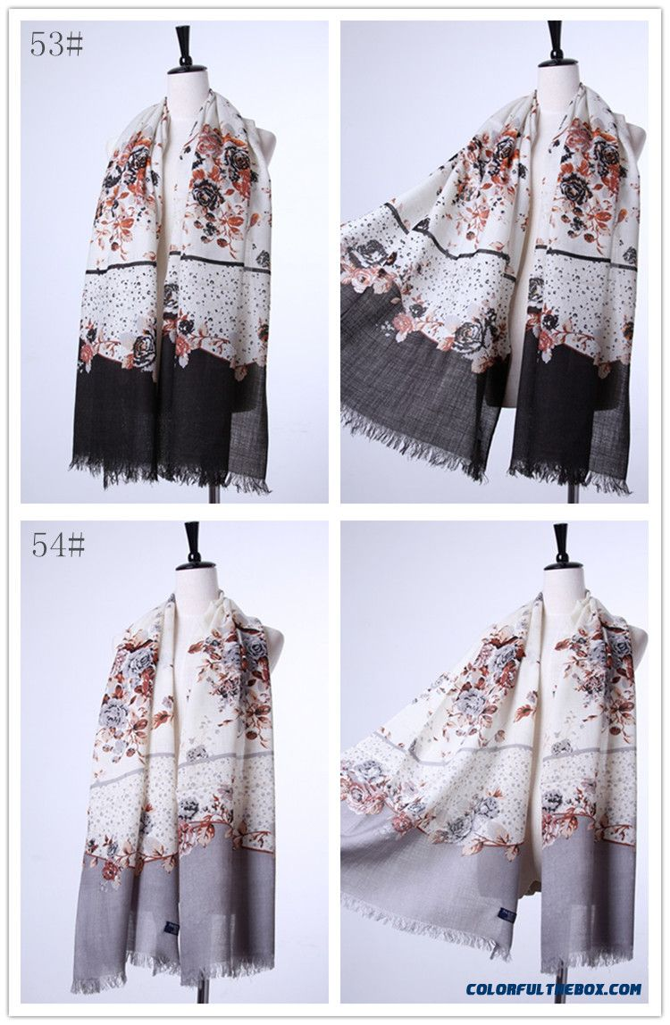Special Clearance Free Shipping Accessories Women Printing Wool Scarves Vogue - detail images