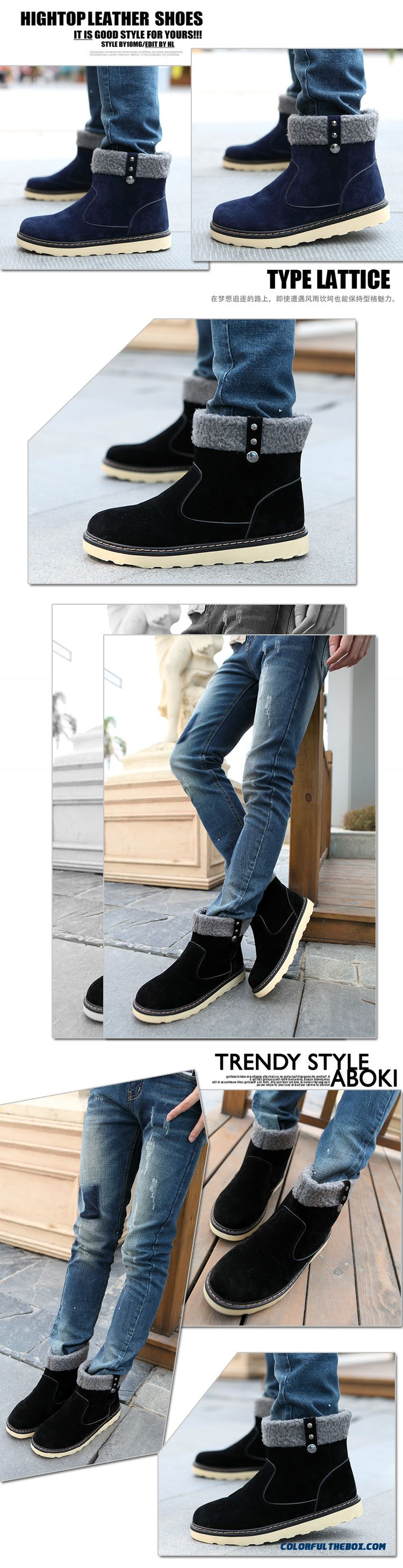 Special Offer Winter Warm Men Snow Boots Fashion Free Shipping - detail images