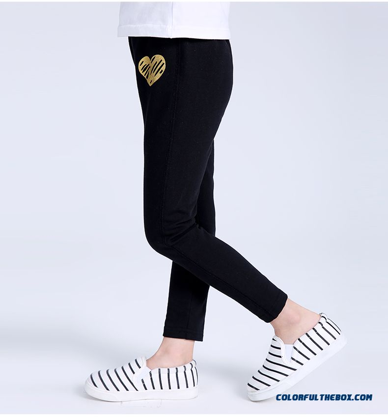 Spring Models Love Stamp Long Pants Pants Thin Kids Clothing For Girls - detail images