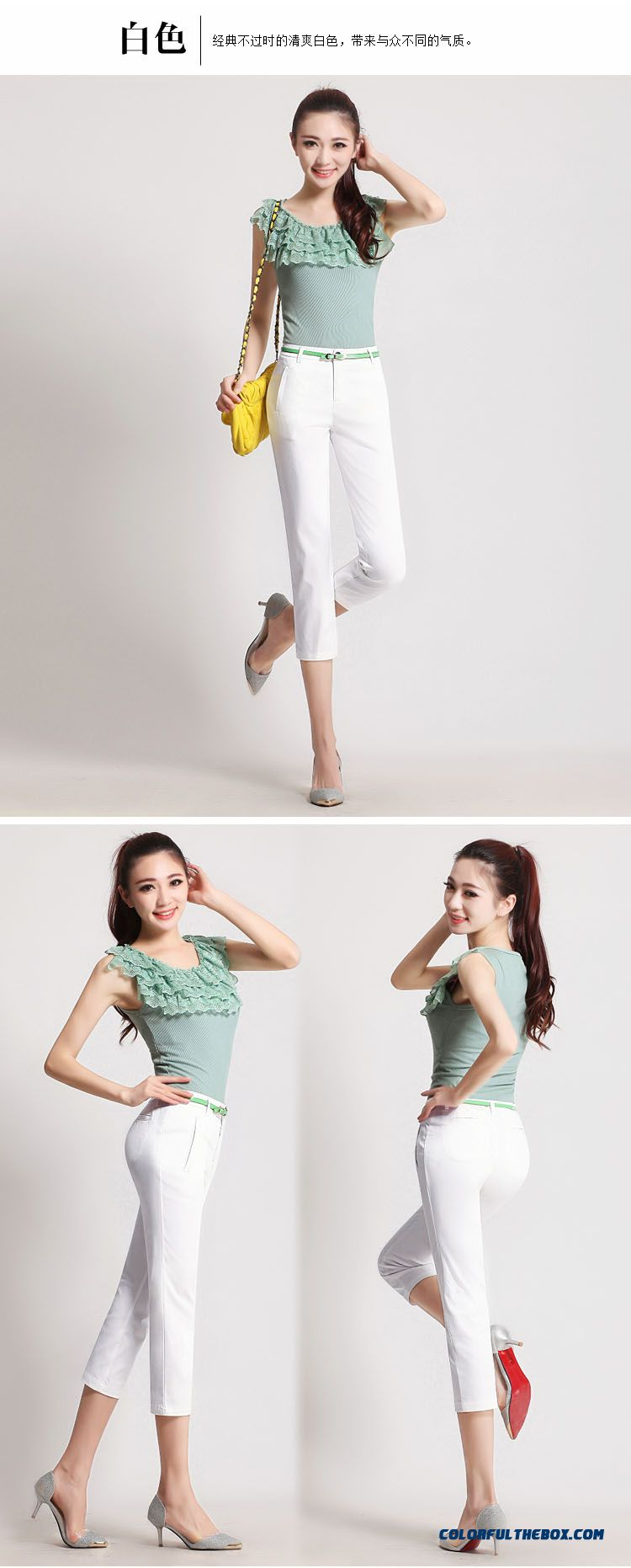 cheap summer big promotion large size casual pants slim thin capri pants sale online