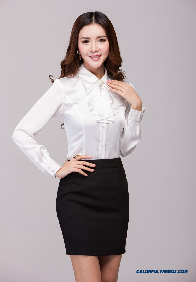 The Finest Quality Elegent Slim Long-sleeved Women's Shirt Hot Selling - detail images