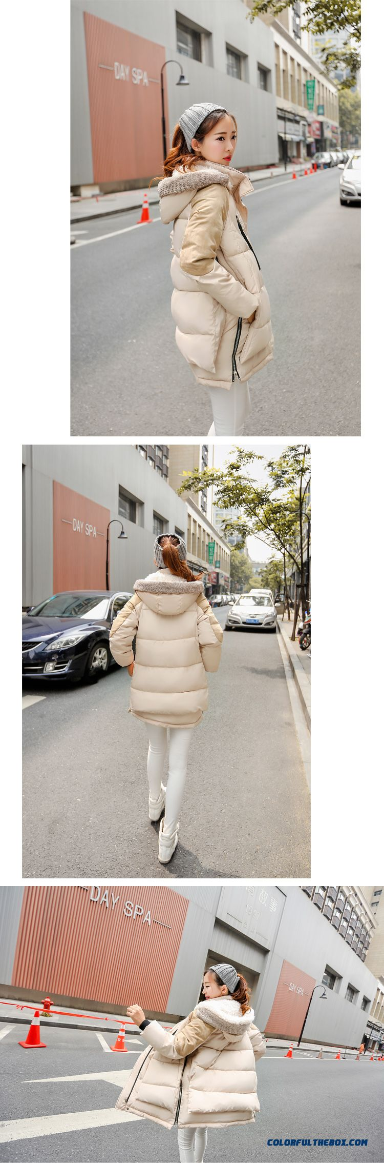 The Newest Style Fashionable Women Hooded Coat Thick Warm Lamb's Wool Jacket - detail images
