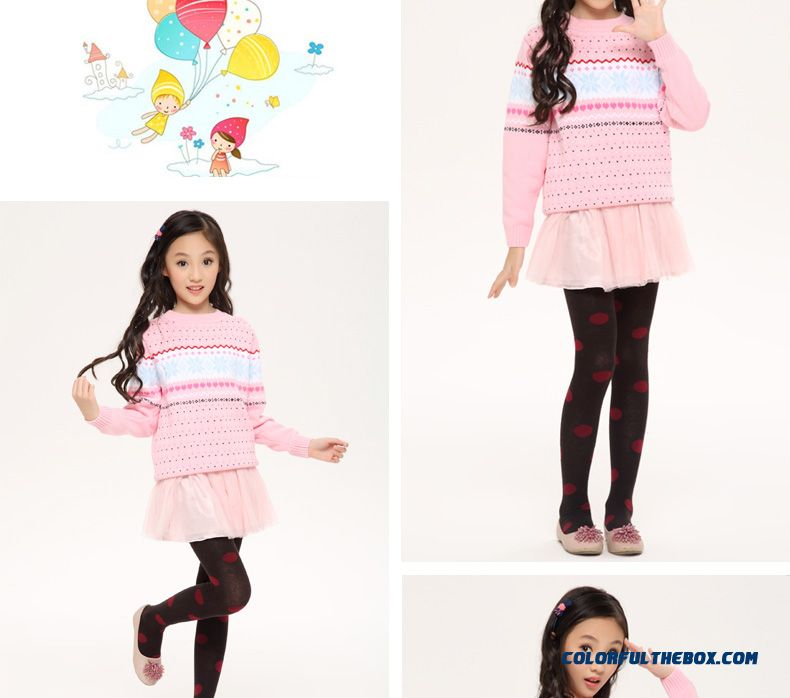 53fc98320ed ... Three Forest Girls Sweater Pullover Knitted Jacket New Autumn Kids  Clothing Kids Long-sleeved Striped ...