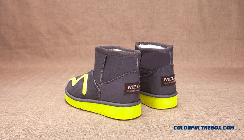 Two Thousand And Sixteen Hit Color Warm In Winter Kids Snow Boots Thickening Boy Short Boots - detail images