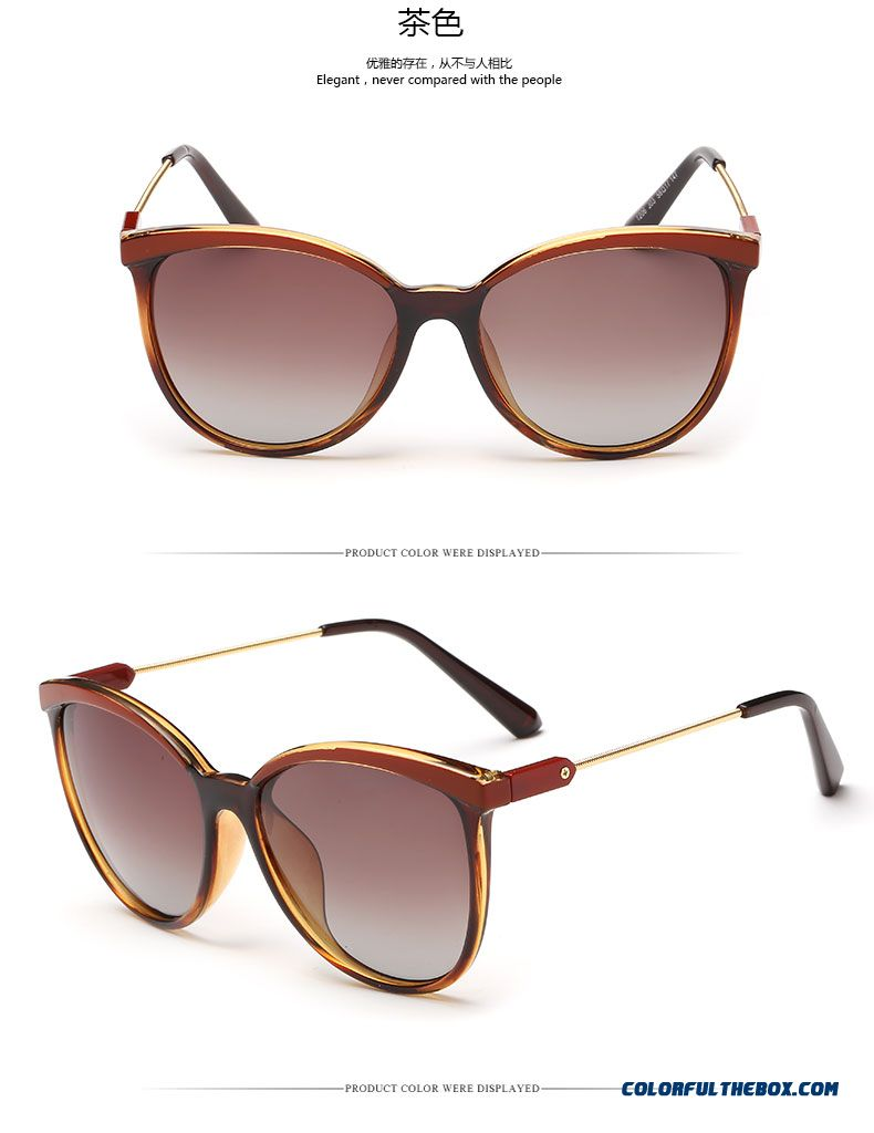 Vintage Round Frame Round Face Dark Glasses Spectacles Driving Chic Accessories For Women - detail images