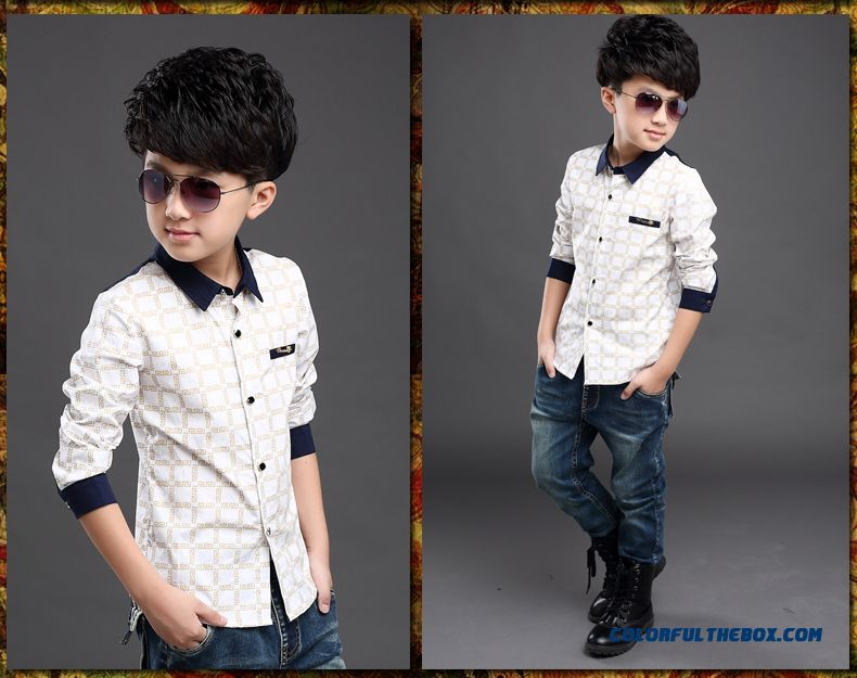 Wholesale High Quality Kids Blouses Long-sleevedshirts For Boys - detail images