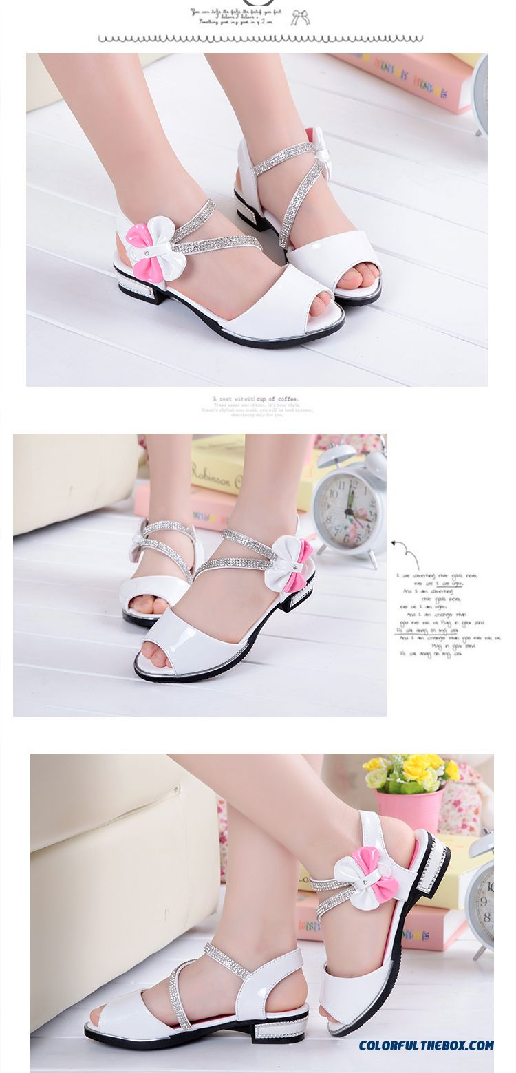 Wholesale Low Price High Quality Kids Shies White Student Shoes Princess Shoes Authentic Girls Sandals - detail images