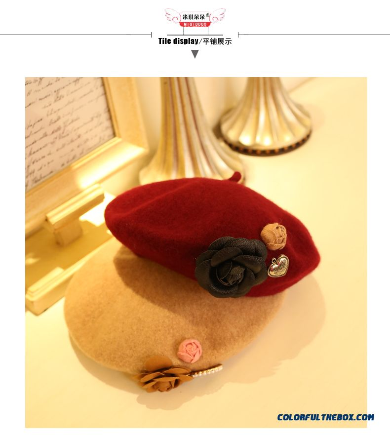 Wholesale Low Price Wool Beret Kids Artist Creative Autumn And Winter Baby Top Hat Fisherman Hats For Girls - detail images