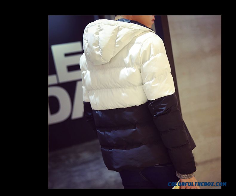 Winter Boys Hooded Coat Tide Large Size Thick Stitching Down Jacket - detail images
