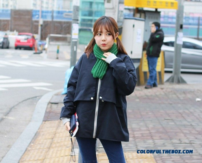 Winter Cute Little Striped Wool Scarves Thicken Warm Kinted Young Women Accessories - detail images