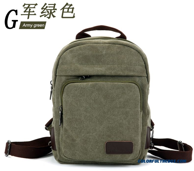 Woman Casual Canvas Shoulder Bags Mini Bags Red Brown Dark Gray Girl Backpack - detail images