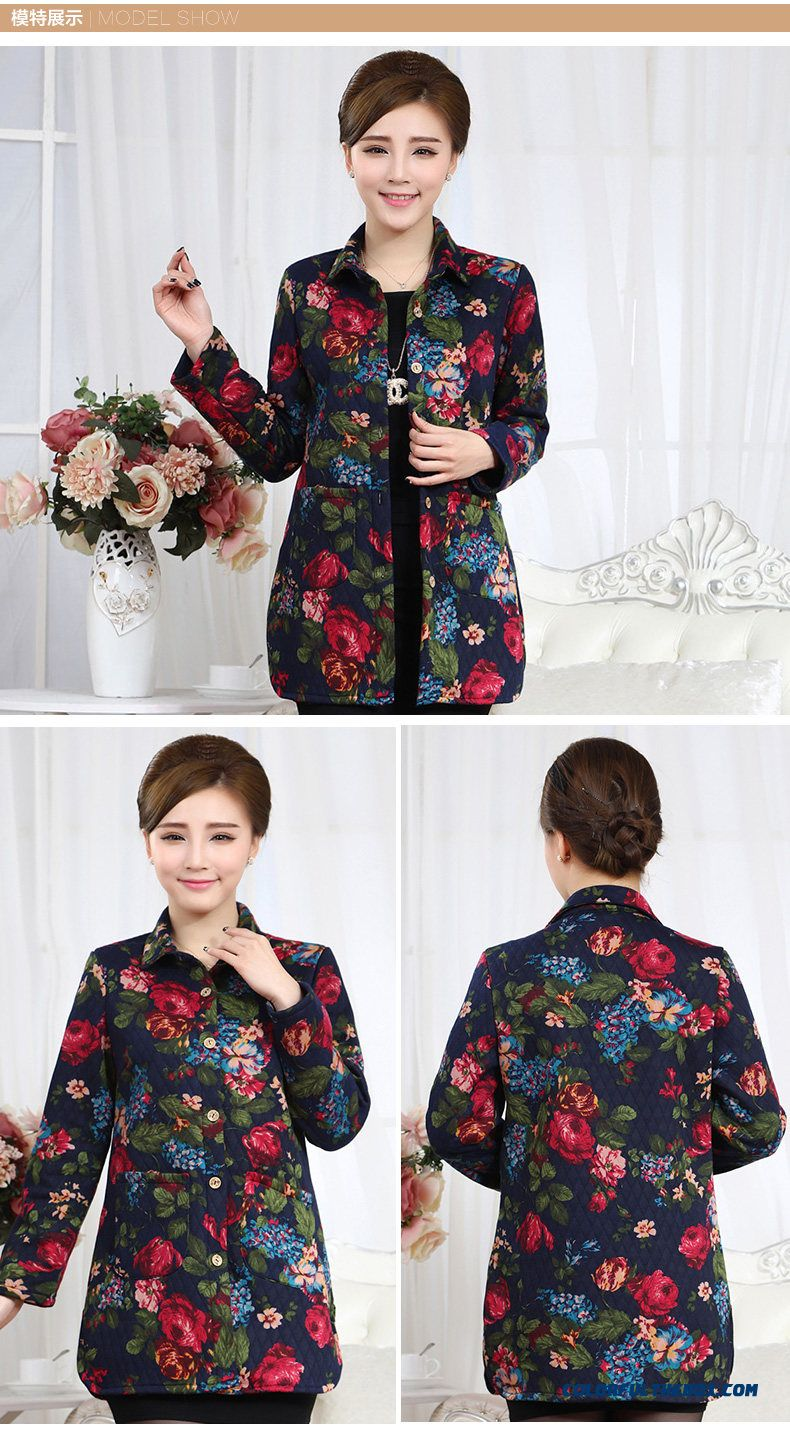 Women Preferred Spring Clothing Long-sleeved Shirt Loose Plus Size Mother Dclothing Thick Coat - detail images
