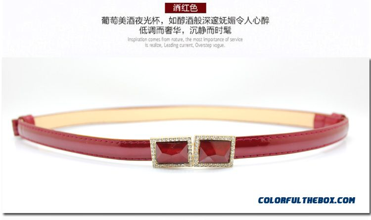 Women's Freely Adjust The Length Buckle Cummerbunds Hot Free Shipping - detail images