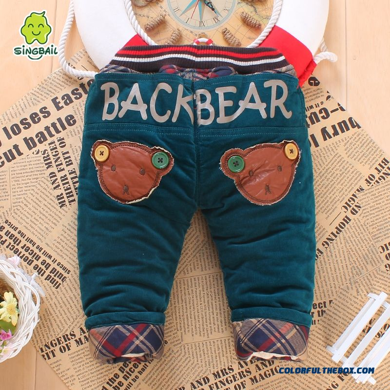 1-2-3 Year Old Pants Long Pants Skin-friendly Fabrics Romantic Winter Warmth Kids Pants - more images 1