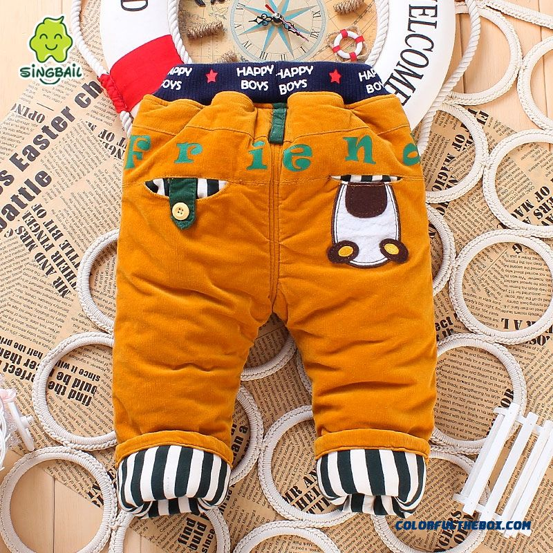 1-2-3 Year Old Pants Long Pants Skin-friendly Fabrics Romantic Winter Warmth Kids Pants - more images 3