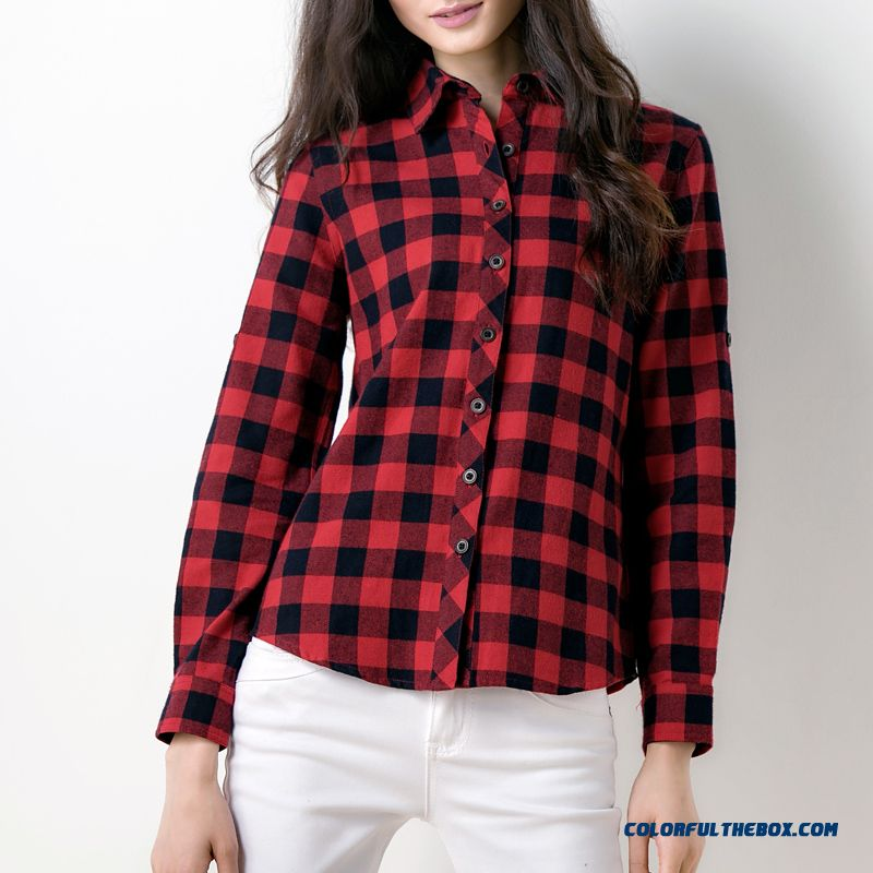100% Cotton Brushed Thick Cotton Buttons Shirts Special Offer For Women