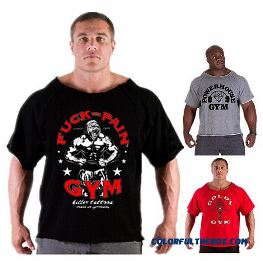 2014 Summer Brand Casual T-shirt Man Wearing Gorilla In The World Bodybuilding And Fitness Gym Muscle Shirt Plus Size Clothing