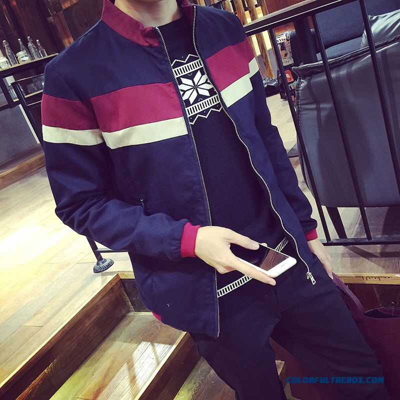 2015 Fall Collar Spell Color Clip Gram Fat Xl Cotton Jacket Coat Male Tide