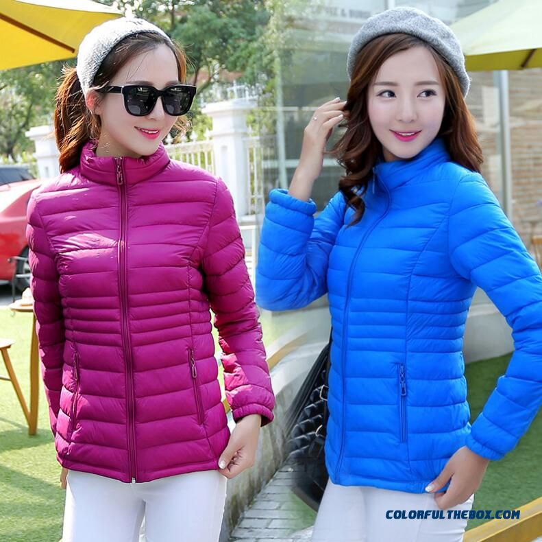 2015 Hot Selling Women Wear Coats Slim Large Thin Female Down Cotton