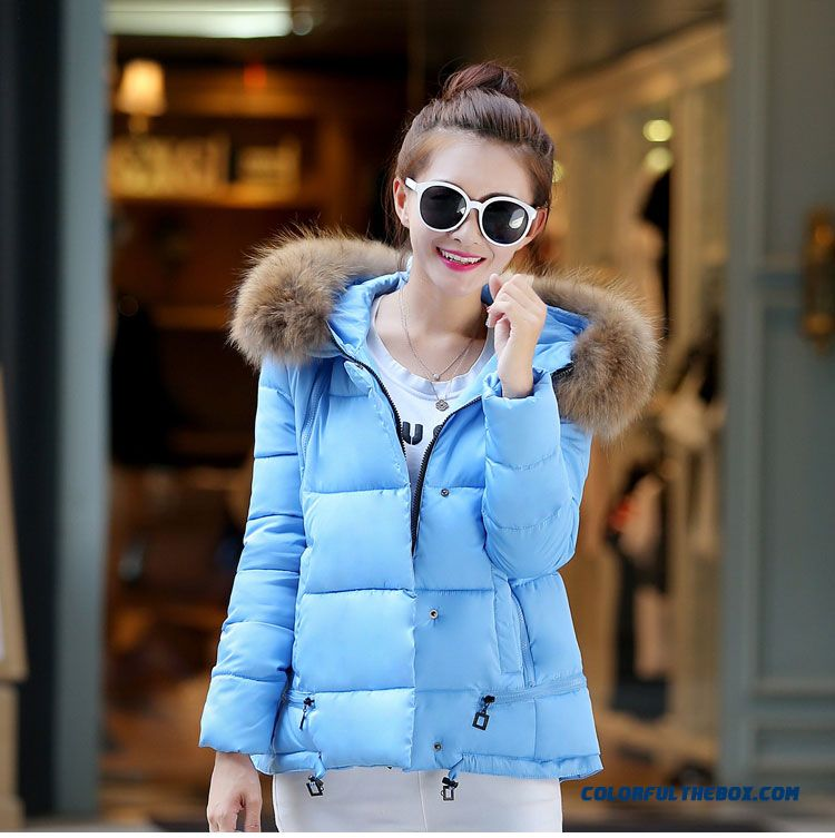 2015 Hot Selling Women Wear Coats Student Large Slim Blue Tide