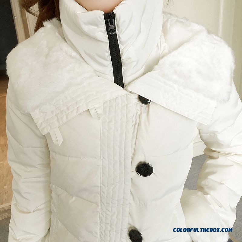 2015 Hot Selling Women Wear Coats Thicken Short White Student Cotton-padded Clothes - more images 3