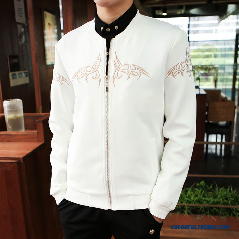 2015 Men's Baseball Uniform Coat Jacket Slim Baseball Clothes Tide - more images 1