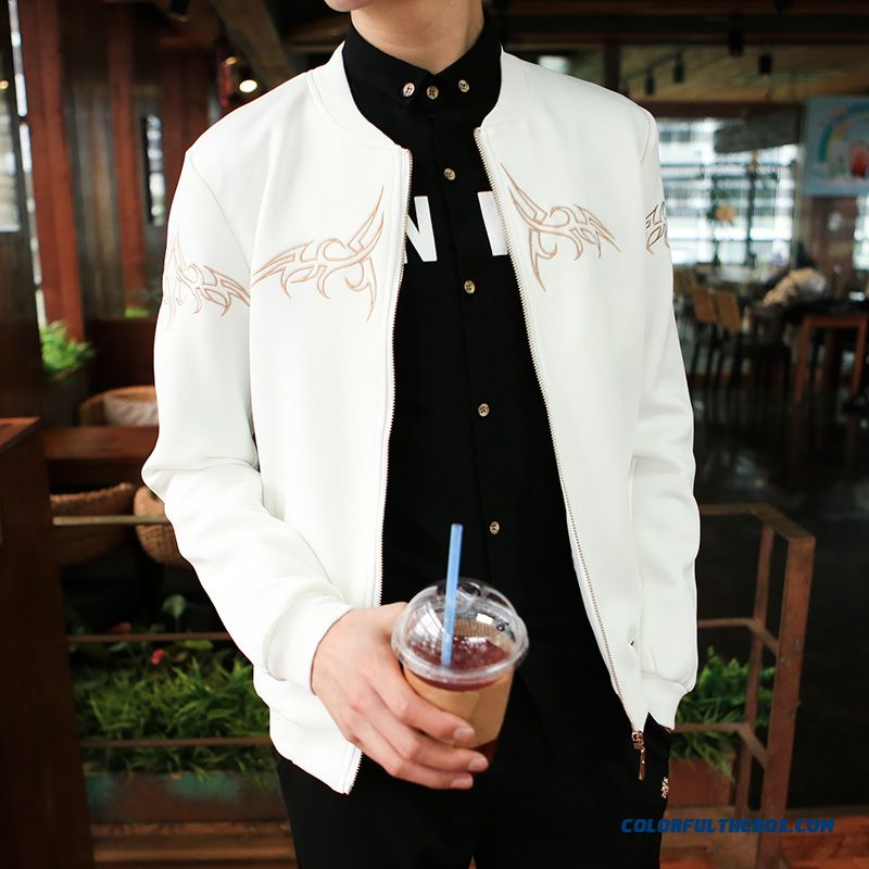 2015 Men's Baseball Uniform Coat Jacket Slim Baseball Clothes Tide - more images 4
