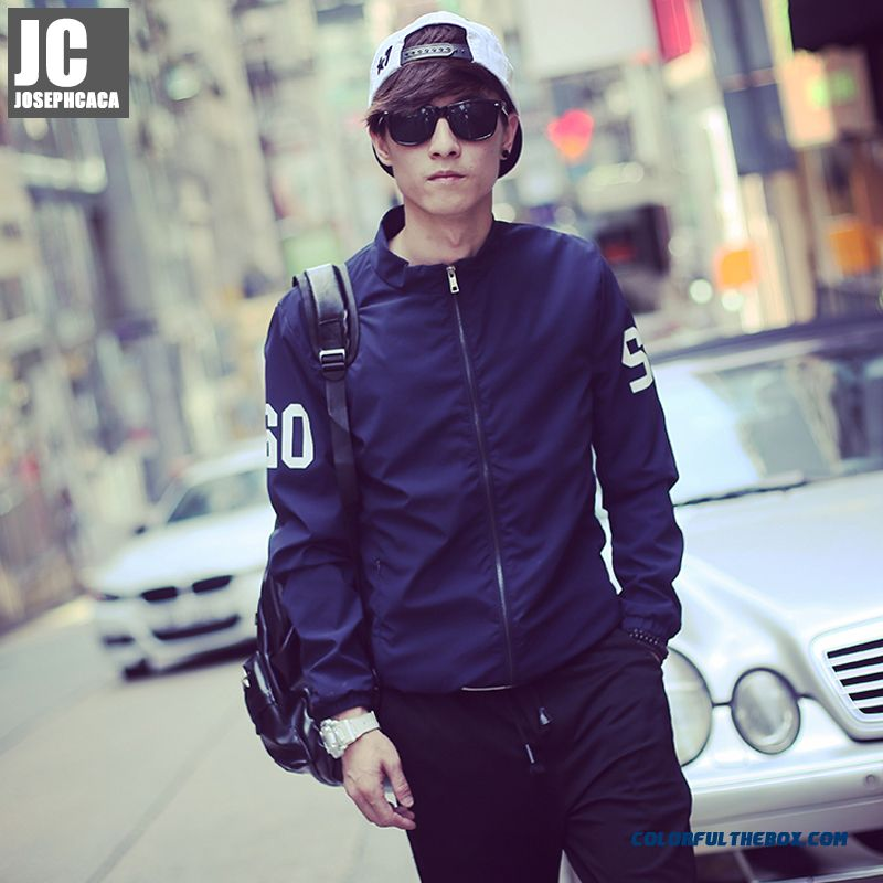 2015 Men's New Fall Coat Short Slim Thin Young Long-sleeved Jacket Tide