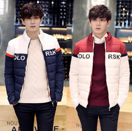 2015 New Autumn And Winter Slim Casual Stand Collar Jacke Korean Version