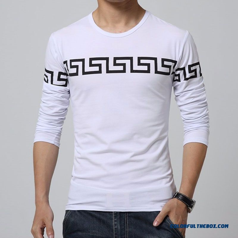 2015 New Autumn Fashion Brand Mens T-shirts Slim Fit Long Sleeve Cotton O Neck Tops Men Tee Shirts Homme Size M-5xl