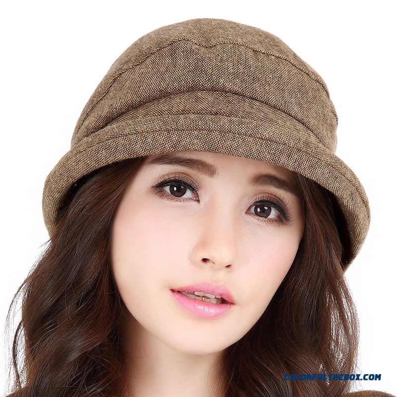2015 New Beret Hat Women Accessories Hats British Stylish Cap Crimping Topper