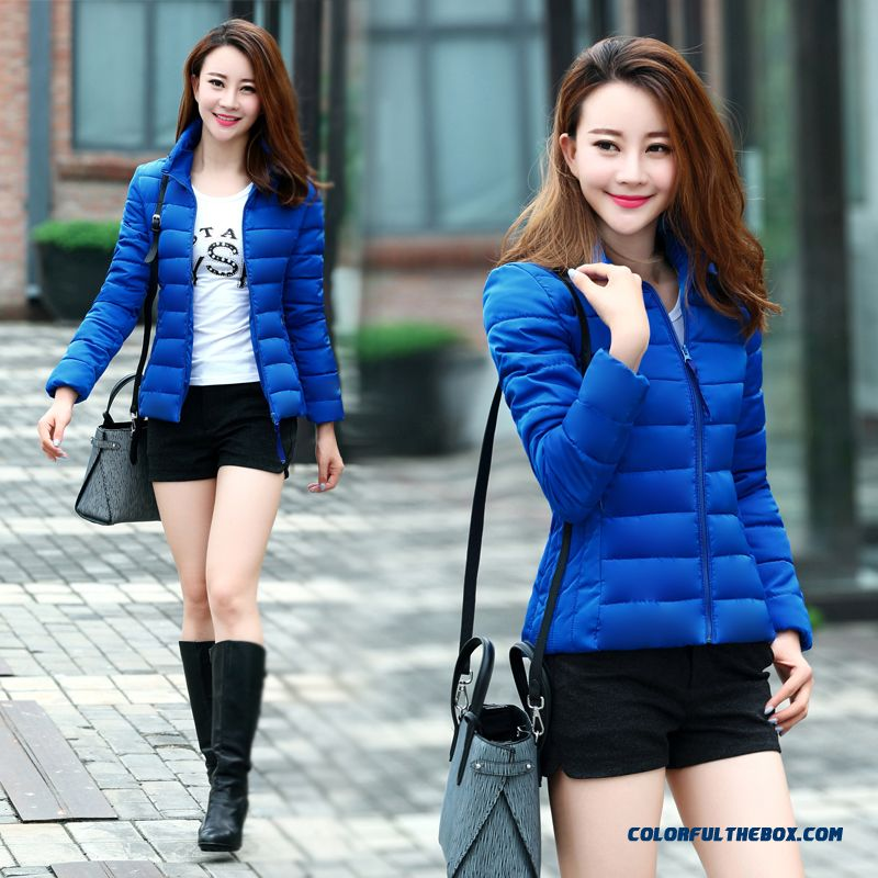 2015 New Fashion Thicker Winter Coat Large Female Short Slim Down Padded Cotton Tide