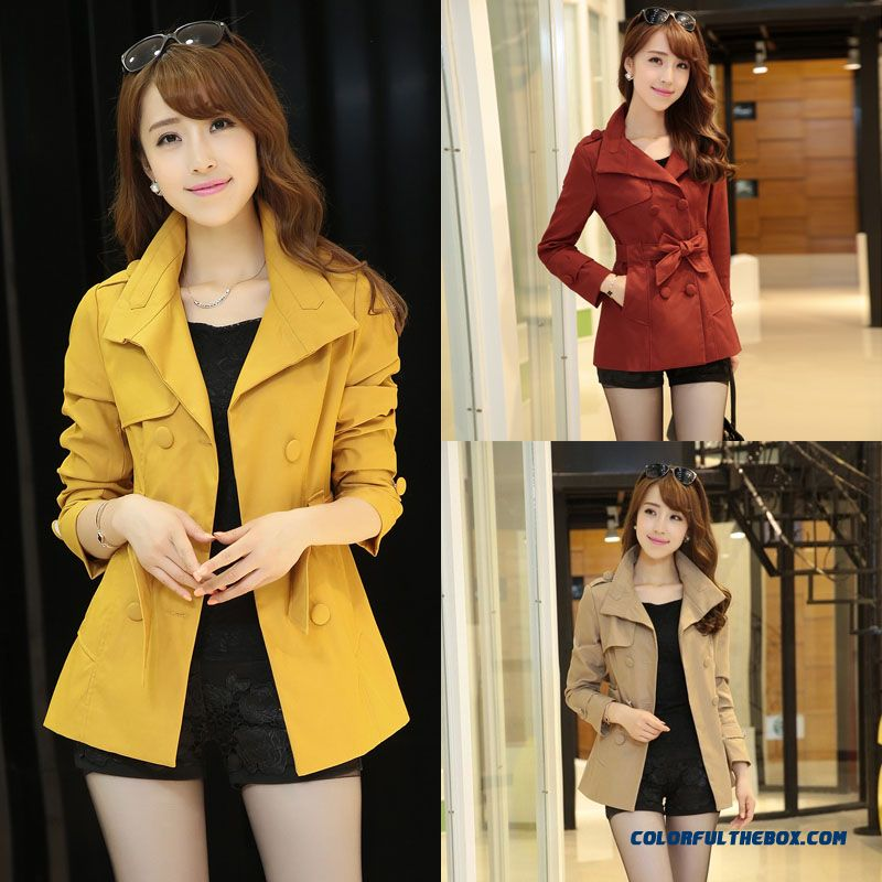 2015 New Spring And Autumn High Quality Women's Woolen Coat Fashion Slim Double-breasted Short