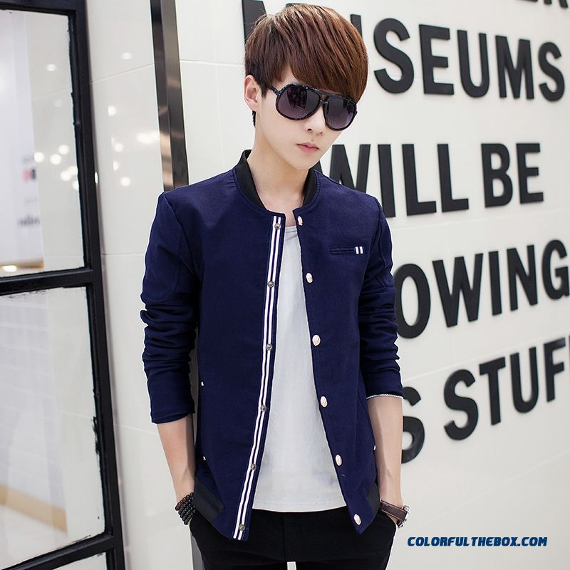 2015 New Spring And Autumn Men Casual Jacket Slim Thin Tide