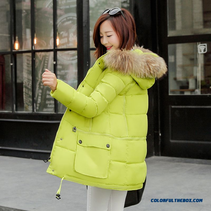 2015 New Winter Fashion Cotton-padded Clothes Female Luxurious Fur Collar Down Coat Female