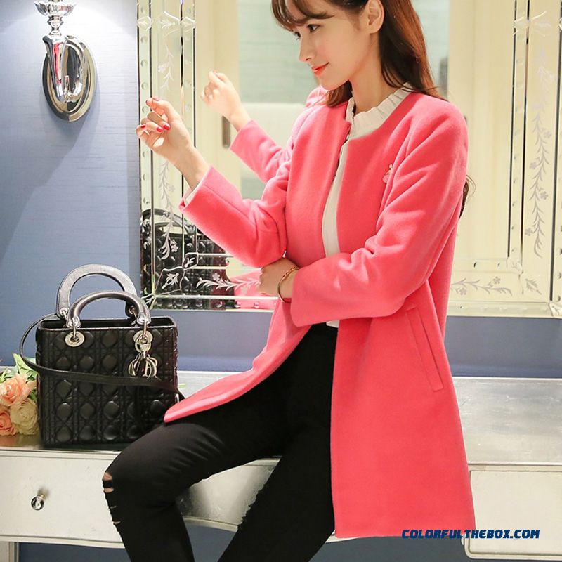 b8e4ac8a2af8e ... 2015 Slim Style Winter Women s Woolen Coats New Pink Large Size Medium Style  Fashion - more ...