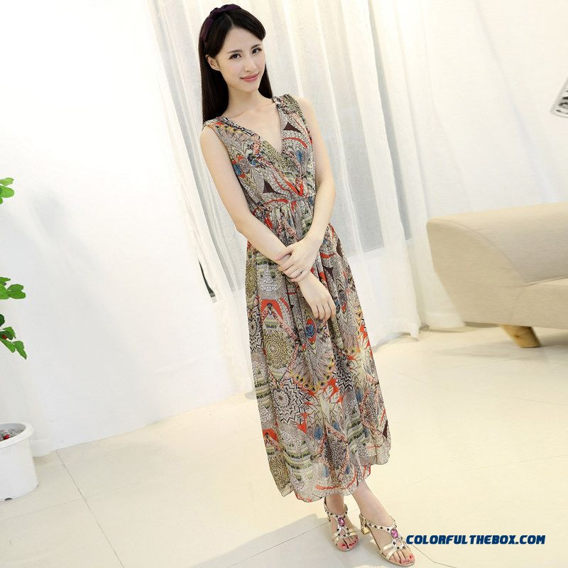 2015 Summer New Chiffon Summer Women Chiffon Dress Free Shipping