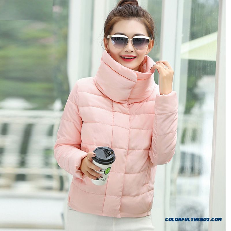2015 Winter Female Coats New Slim Thin Short Jacket Lapel Fashion