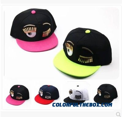 2016 Children Kids Baseball Cap Eyelashes Hip Hop Hat With Big Eyes Lovely Embroidered Bonnet Boys & Girls
