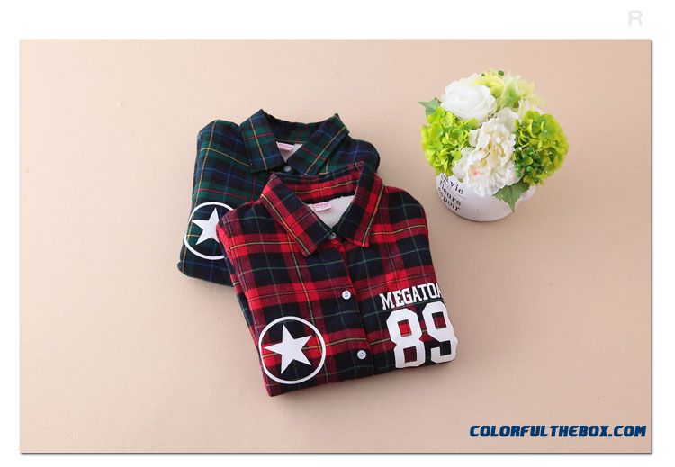 2016 Kids Middlelarge Girls Winter Plaid Medium-long Printed Long-sleeved Digital 89 Shirt Jacket