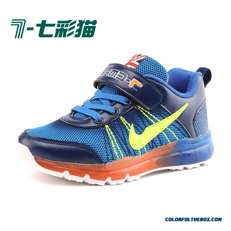 2016 New Breathable Mesh Shoes Air Cushion Boys Fashion Youth Basketball Shock Absorption Kids Shoes