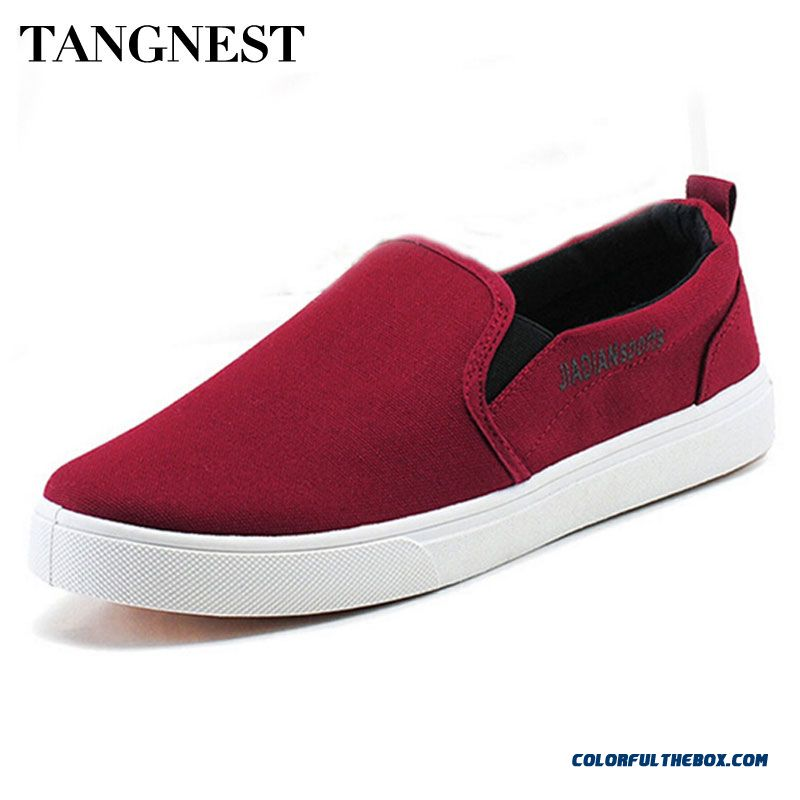 2016 New Canvas Shoes Fashion Slip On Men's Flats Shoes Spring Autumn Casual Man Driving Shoes Cheap
