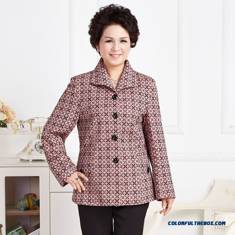 2016 New Spring Thin Coat Casual Suit Middle-aged Mother's Coats